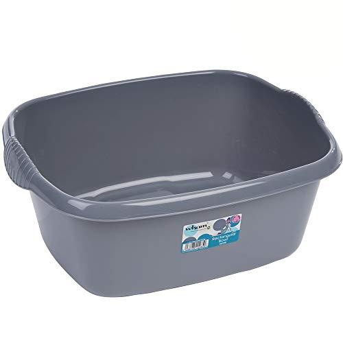 Hummelladen Schüssel aus Kunststoff mit Griffen, grau, robust, 12L, 32x39 cm, 330 g: Waschschüssel Spülschüssel Plastikschüssel Camping Spüle Behälter Haushalt Küche