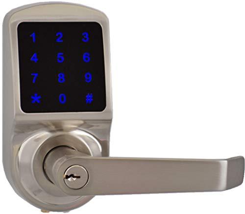 Scyan Smart Door Lock, Keyless Entry Door Lock, Keypad Door Lock, Keypad Entry Door Lock, Touchscreen Door Lock, Digital Door Lock, Reversible Lever Fit Left and Right Handed door, Non Weatherproof
