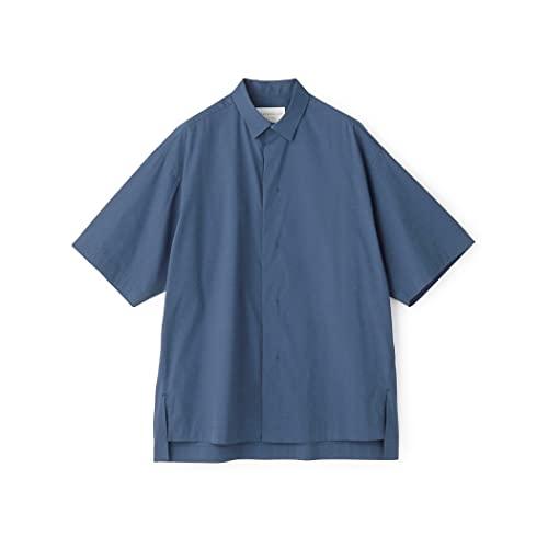 [トゥモローランド] コットン ポプリン レギュラーカラー 半袖 シャツ メンズ M 65 ブルー