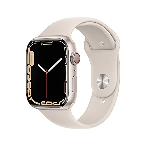AppleWatch Series7 (GPS+ Cellular) - Caja de Aluminio en Blanco Estrella de 45mm - Correa Deportiva Blanco Estrella - Talla única