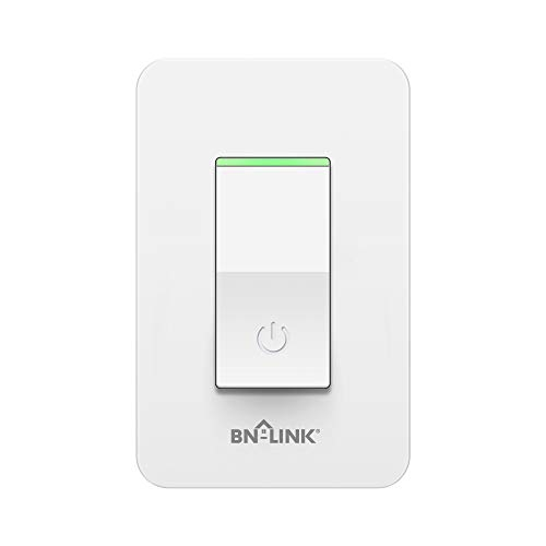BN-LINK Smart In Wall Light Switch with Remote Control and Timer Function,Compatible with Alexa/Google Assistant/IFTTT, No Hub Required,