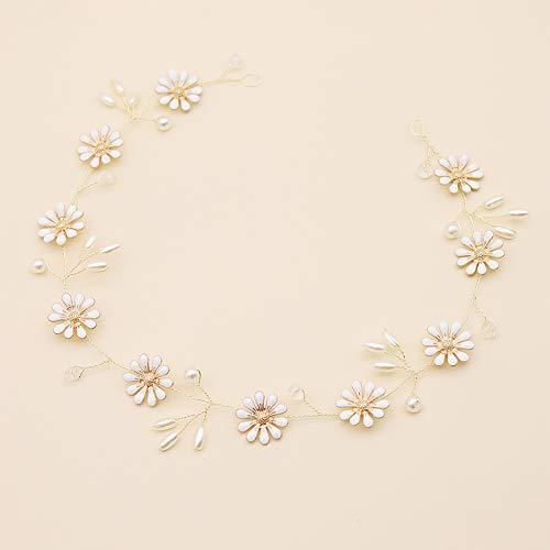 Europese en Amerikaanse Bruid Tiara Crystal Haarband Sen lijn Handgeweven Madeliefje Hoofdband Bruiloft Jurk Accessoires