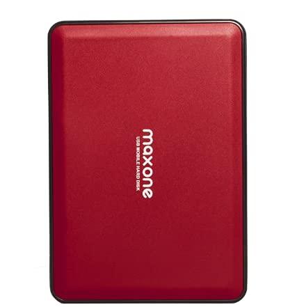 """Disco Duro Externo Portátil DE 2,5"""" 500GB USB 3.0 SATA HDD de Almacenamiento para Escritorio, Portátil, MacBook, Chromebook (500GB, Rojo)"""
