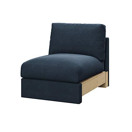 Soferia Fodera Extra Ikea VIMLE Divano a 1 posti, Tessuto Elegance Grey