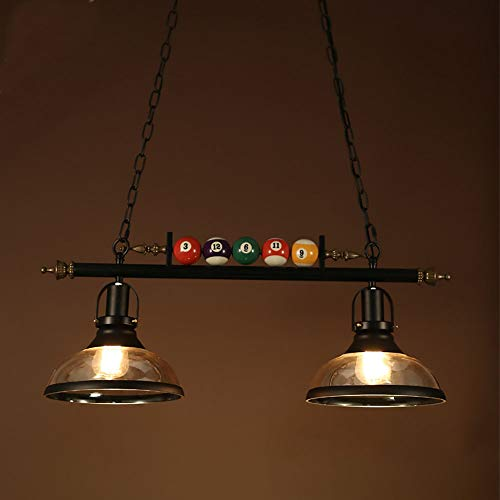 HIZH Billard Licht Kronleuchter Billardtisch American Pendant Landhausstil Loft Retro Kreative Billard Lampe Schmiedeeisen Lampen Retro Hängeleuchte ,,A-2