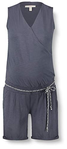 ESPRIT Maternity Damen Jumpsuit Jersey sl UTB Umstandsoverall, Blau (Gunmetal 015), 38 (Herstellergröße: M)