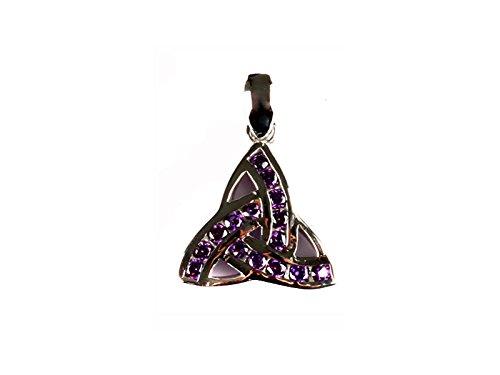 Celtic Desire joyas irlandés Trinity nudo lámpara de techo colgante con de plata (Alejandrita piedra)