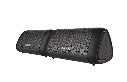 Motorola Sonic Sub 630 Bass Twin - True Wireless Bluetooth Lautsprechers - IPX5 Waterproof - 9h spielzeit - Mikrofon für Anrufe/Amazon Alexa/Siri/Google Assistant - Schwarz