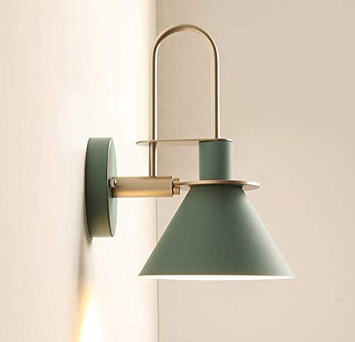 Etelux 60w Applique Vintage Industrial, Moderno Retro Lampada da Parete Interno E27 Verde Lampade da Muro in Metallo per Comodino, Camera da Letto, Corridoio, Scale
