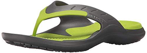 Crocs crocs Unisex-Erwachsene MODI Sport Flip Zehentrenner, Grau (Graphite/Volt Green), 46/47 EU
