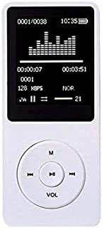 COODIO Portable Multifunction 8GB 70 Hours Playback Lossless Sound Music AVI MP3 Player White