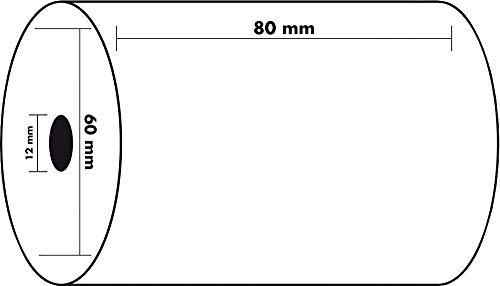 10 Bobines 80 mm (largueur) x 60 mm ( diamètre) pour Caisses Enregistreuse Papier Thermique ECONOMIQUE univers graphique UGR07