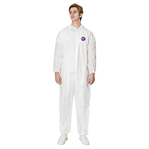 Great Price! Disposable Protective Clothing, FluidResistant Splash Resistant Isolation Gowns Late x-...