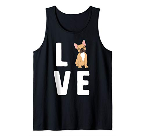 LOVE French Bulldog Women Frenchie Dog Lover Gift Puppy Tank Top