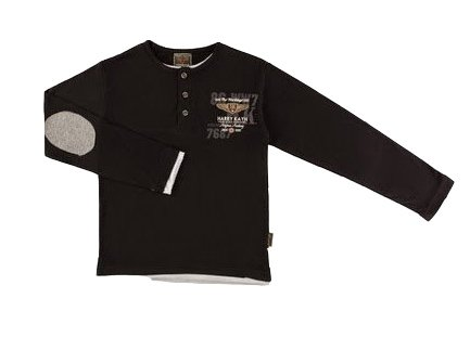 Harry Kayn - T-Shirt Manches Longues garçon EGRANPA38-noir-4 Ans