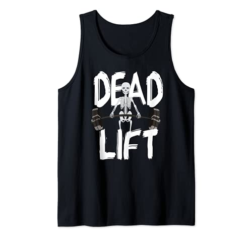 Esqueleto Deadlift Culturismo Halterofilia Gimnasio Camiseta sin Mangas