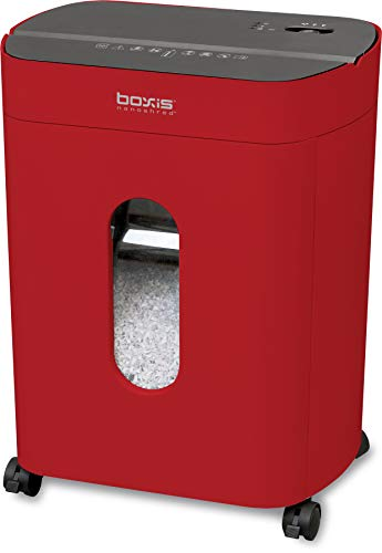 Why Choose Boxis Nanoshred 10-Sheet Nanocut Paper Shredder (Red)