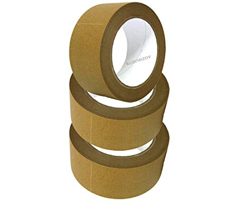 3 x Rollen Kusnezov Papier Klebeband Paketband Packband 50m X 50mm braun 120my