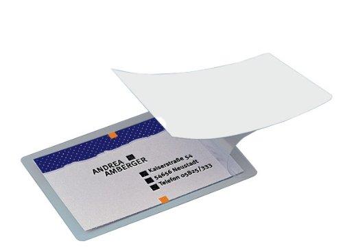 SIGEL VZ215 Kalt-Laminierfolien für 100 Karten, glasklar, zum Laminieren ohne Gerät