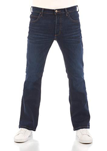 Lee Herren Jeans Jeanshose Denver Bootcut Denim Stretch Hose Baumwolle Blau w30-w44, Größe:W 33 L 32, Farbvariante:Dark Blue Elko (HDBU)