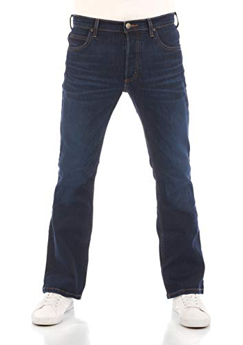 Lee - Jeans bootcut Denver, in denim, da uomo, tessuto elastico, in cotone, blu, taglie w30-w44 Dark Blue Elko (Hdbu). 50 IT (36W/34L)