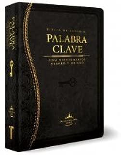 Biblia RVR60 Palabra Clave Estudio Diccionario Hebreo y Griego Imitacion Piel Negro