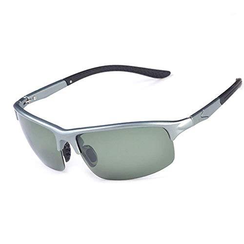 XUSHEN-HU Gafas de ciclismo para hombre y mujer, polarizadas con movimiento anti-UV, movimiento de ciclismo, deportes al aire libre (color: plata, tamaño: tamaño libre) gafas de sol