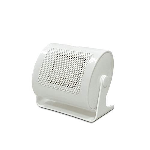 YCRCTC Calentador de Espacio cerámico Eléctrico 500W Cálido Invierno Mini Mini Desktop Fan Calentador Forzado Hogar Calefacción rápido (Color : White)