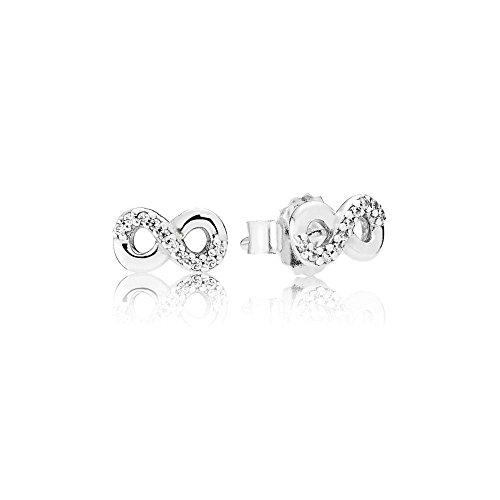 Pandora Pendientes de botón Mujer plata - 290695CZ