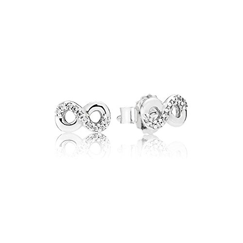 Pandora Women Silver Stud Earrings - 290695CZ