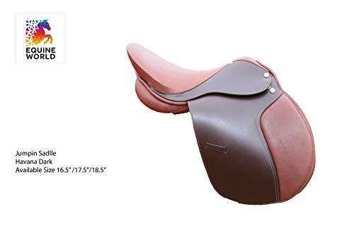 EW Englischer Pferdesattel aus echtem Rindsleder, tiefer Sitz