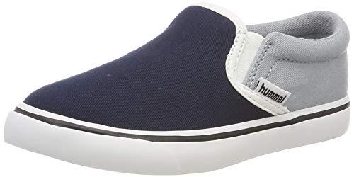 hummel Unisex-Kinder Slip-ON JR Slip On Sneaker, Blau (Arona 7014), 29 EU