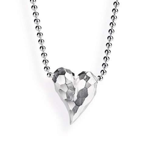 Drachenfels Kleiner Herz Anhänger in Echtsilber | Kollektion Heartbreaker | Eleganter Design Anhänger für Damen in Herzform | D HE 34/AG