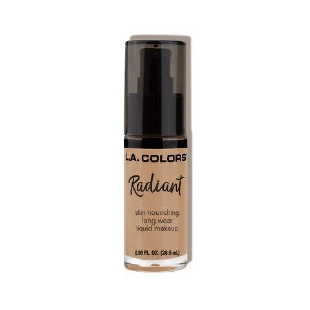 希少性のみ宝(6 Pack) L.A. COLORS Radiant Liquid Makeup - Medium Beige (並行輸入品)