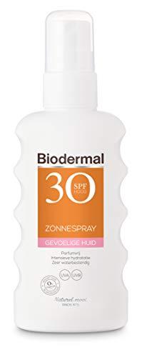 Biodermal Zonnebrand spray voor de gevoelige huid SPF 30 - Zonnespray bevat geavanceerde UVB-/UVA-filters voor een directe en aanhoudende bescherming - 175ml