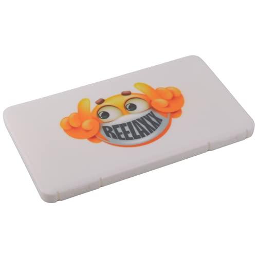 REELAXXX - Maskenbox Kinder Weiß - Schmuck Perlen - Aufbewahrungsbox Masken - Karten und Zubehör - Box für Maske - Aufbewahrung - Maskentaschen - Etui Mask Case - Tasche (Weiß)
