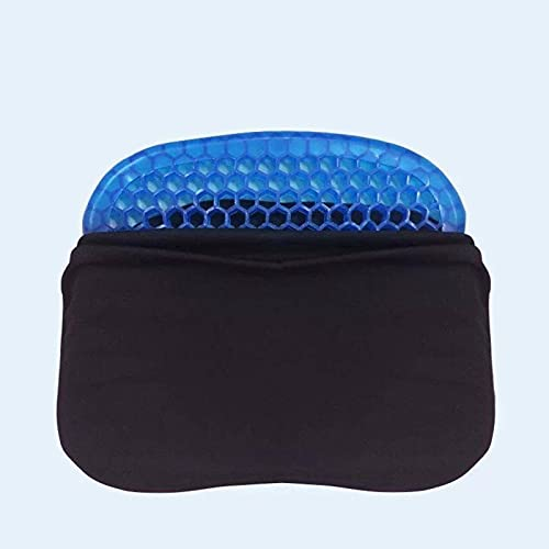 N\C Cojín de gel, alivia el dolor de coxis, ciática, dolor de espalda, adecuado para sillas de oficina, coches familiares, sillas de ruedas, fresco y transpirable, lavable e higiénico