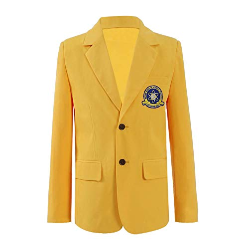 Peter Parker Blazer Cosplay Costumes Yellow Jackets Outwear Suits (Small, Yellow-Men)