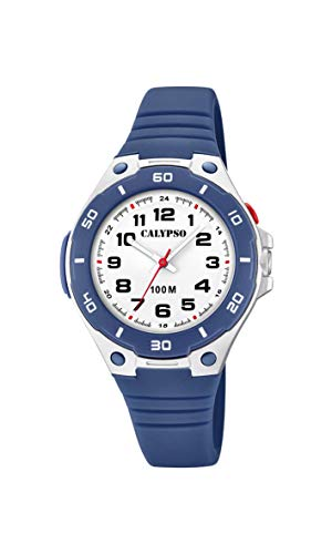 Calypso Unisex Kinder Analog Quarz Uhr mit Plastik Armband K5758/2