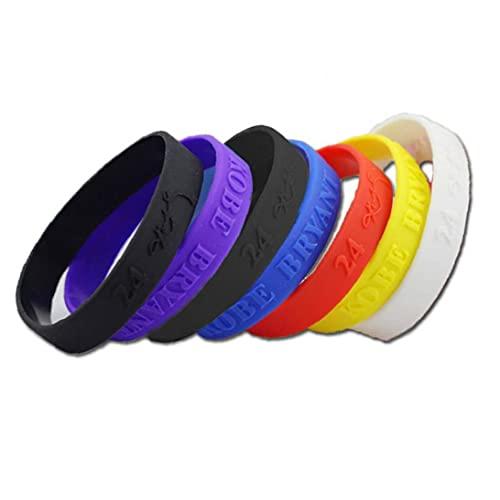 fregthf Deportes del Silicón Pulseras De Goma Unisex Pulseras Colores Mezclados 6pcs / Paquete Accesorios Favor De Partido