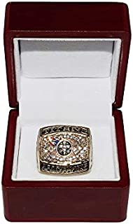TENNESSEE TITANS (Jevon Kearse) 1999 AFC WORLD CHAMPIONS (Super Bowl XXXIV) Rare Collectible Replica National Football League Gold NFL Championship Ring with Cherrywood Display Box