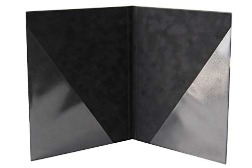 ggm® Chormappe Scarlett DIN A4 Standard, Mircofaser Optik, Farbe: schwarz