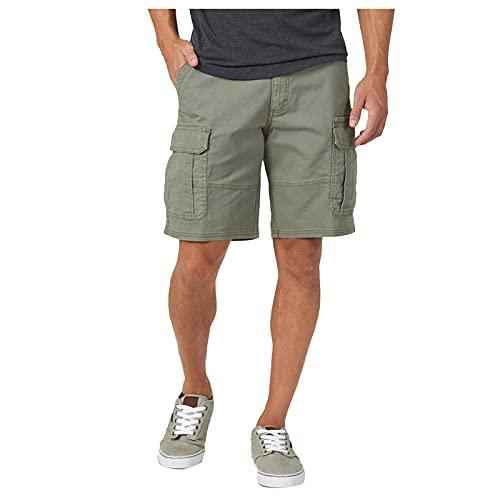 riou Pantalones cortos de deporte para hombre, con Cremallera Algodon Shorts Verano Bermuda Sweatpant Pantalon Corto Salón Fitness Bolsillos Running Shorts