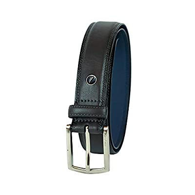 Nautica Men's Belt with Dress Buckle and Stitch Comfort,Black,38