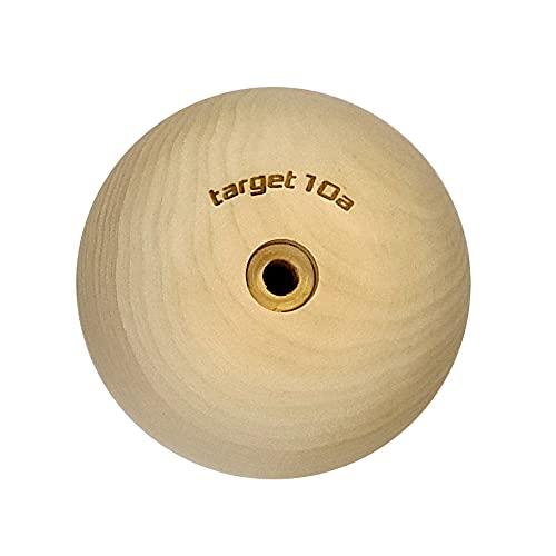 target10a Campussloper – Halbkugeln fürs Campusboard, Klettertraining Größe M (120x100mm) (Für 8mm Spaxschraube)