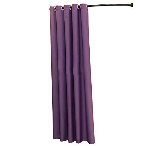 BAIYING Tipo C Tienda de Ropa Probador, Vestidor Simple, Vestidor Movible, Cortinas, Cortinas Divisorias con Marcos de Metal, 3 Medidas, 5 Colores (Color : Purple-A, Size : 80cm)