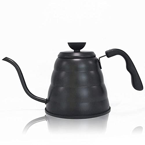 LieblingsAdi Cafetera de acero inoxidable con termómetro café goteo hervidor de agua de cuello de ganso tetera cafetera Botella Accesorios de cocina