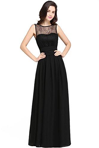 MisShow Abendkleider Damen schönes Ärmellos Ballkleid Chiffon Abiballkleider Lang Prom Kleid Party...
