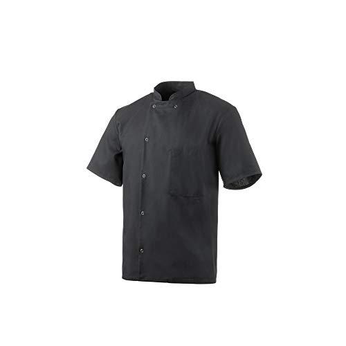 Robur Inox Küchenjacke, kurze Ärmel, schwarz, Block, 600_7861, Schwarz, 600_7861
