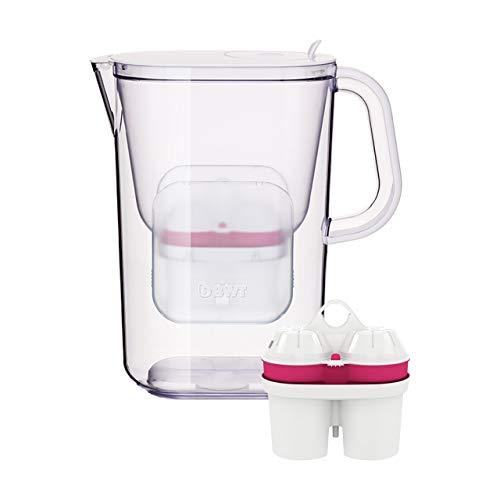 BWT Wasserfilter AQUAlizer 2.6 l weiß inkl. 2 Filterkartuschen | Optimaler Kalkschutz & mit Magnesium mineralisiertes Wasser | AQUAlizer 2.6 l - Der neue Jug von BWT